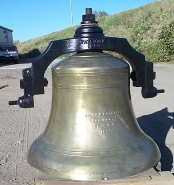 Powder Coating was done on this antique brass church bell in St. Charles, MN, to restore it to it's original condition