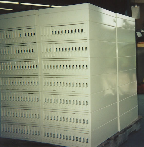 Cream colored powder coating on file cabinets