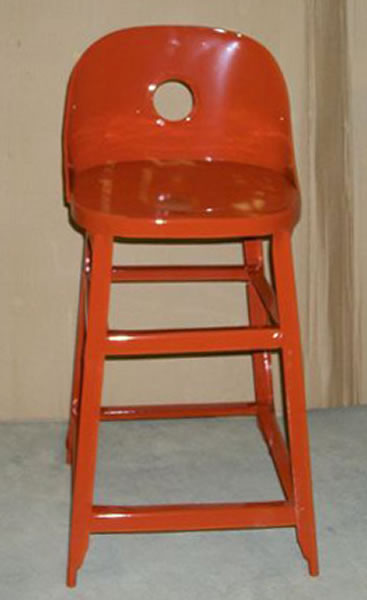 Restoration of an antique high chair powder coating project