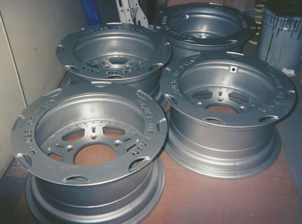 Silver Powder Coated Tire Rims